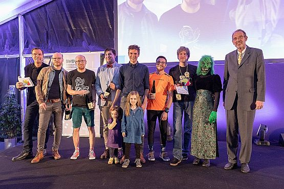 Science-Slam-Finale am Heldenplatz mit BM Faßmann