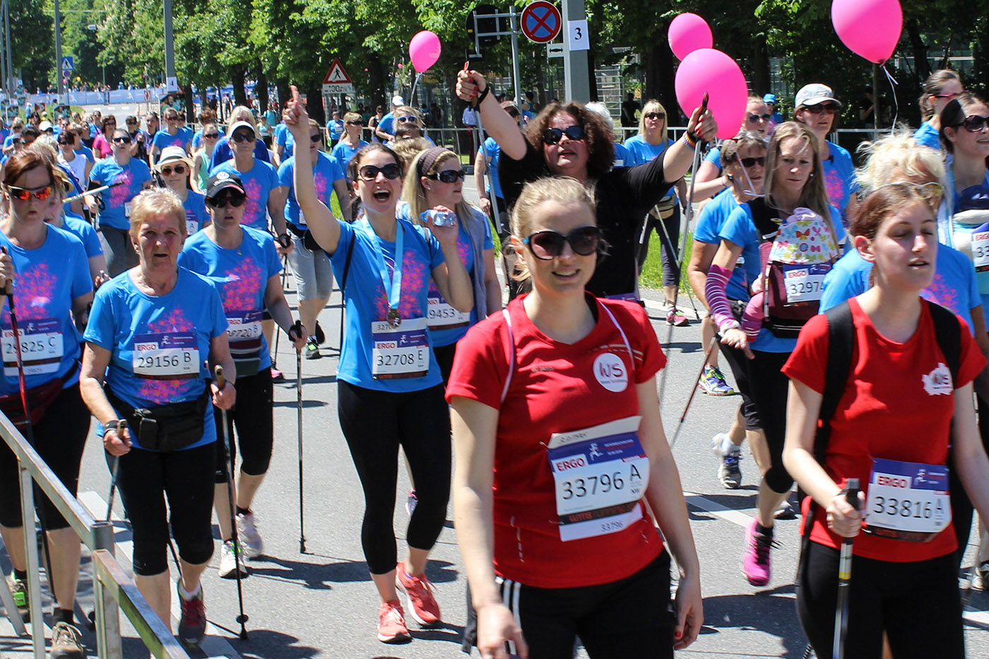 Team Frauenlauf in Aktion